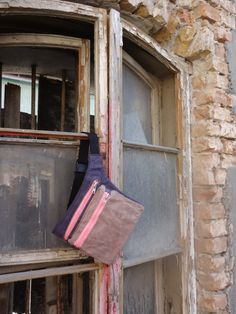 Waxed Canvas Pink  Hip Bag Babywearing Bag Canvas Belt by koatye1