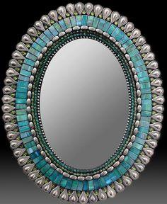 Zetamari Jade Teal Drop Mirror - SWOON