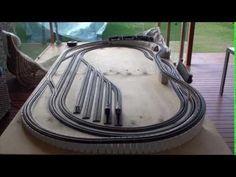 8 X 4 HO Model railroad layout (Part 3) - YouTube