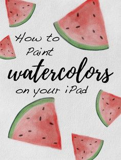 Digital Watercolors on Your iPad Using Procreate + 9 Free Brushes - In this class, I'll show you how to use the iPad app Procreate to make watercolor paintings that look like real pigment on paper. Procreate doesn't come with any high quality watercolor b Watercolor Paper Texture, Watercolor Paintings, Watercolor Brushes, Painting Art, Ipad App, Ipad Kunst, Pin On, Affinity Designer, Trendy Wallpaper