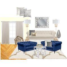 Indigo+ivory living room