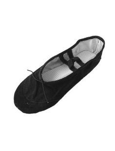 Damen schwarz Leinwand Schuhe zum Tanzen Ballerina, Größe 7 - http://on-line-kaufen.de/sourcingmap/damen-schwarz-leinwand-schuhe-zum-tanzen-groesse
