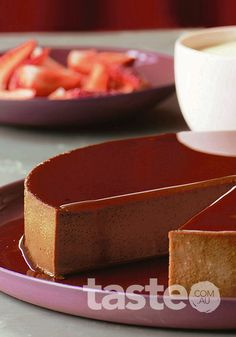 Chocolate and cinnamon flan (click on the photo to get the recipe)