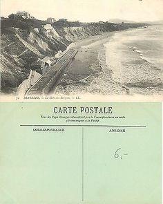France - Biarritz - La Côte des Basques - Année 1936 (A-L Biarritz, France, Country, Beach, Creative, House, Outdoor, Ideas, Basque