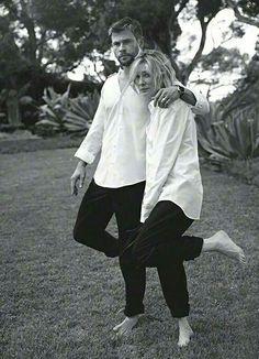 Cate Blanchett and Chris Hemsworth Vogue Australia 2017