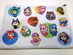 Animal Crossing New Leaf Double Sided Zip Bag