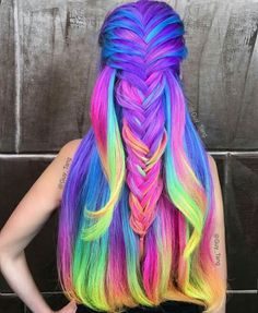 16 Rainbow Hair Color Ideas You'll Go Crazy Over - Hair - Hair Designs Short Curly Hair, Curly Hair Styles, Pelo Multicolor, Unicorn Hair, Dream Hair, Cool Hair Color, Gorgeous Hair, Hair Designs, Hair Trends