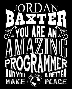 Personalized! You are an amazing person in your profession and you make the world a better place.  Its a super great personalized typography metal sign. The perfect way to give accolades, appreciation and adoration all in one sweet gift! Comes personalized with your custom first and last name on top and we can even change the job title or hobby name to better suit you. (Up to 14 characters maximum, please)  Full color, brand spankin new and as cute as can be. Choose your size, background…