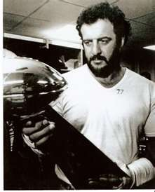 Lyle Alzado with the Super Bowl trophy. Go Raiders!