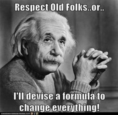 E=MC something or another...