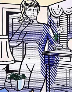 Collage for nude with white flower Roy Lichtenstein, 1994