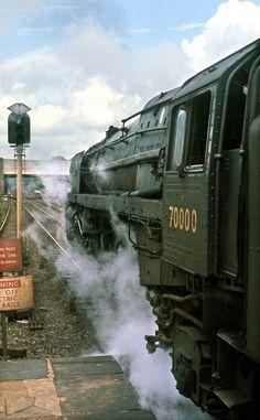 """""""70000 Britannia at Watford Junction Aug '63"""" by David Christie #flickr #retro"""