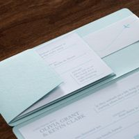 Olivia & Kevin Airline Ticket Pouch Wedding invitation