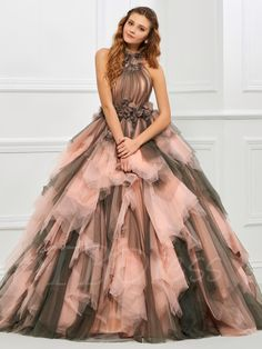 Tbdress.com offers high quality Halter Ball Gown Pleats Floor-Length Quinceanera Dress Ball Gowns unit price of $ 195.99.
