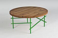 dot table | coffee tables | white oak + iron | designed by skylar morgan furniture + design (SMFD)