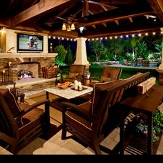 #outdoor #fireplace #living