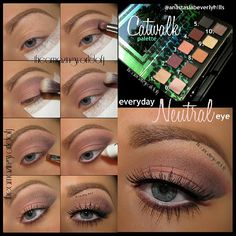 1) Apply a primer  2) Apply Pose (10.) onto the outer v  3) Apply Day Rate (6.) all over the lid and blend it in with the crease color  4) Blend out the crease with Scout (3.) 5) Apply Beauty Mark (4.) along the lower lashline  6) Apply NYX jep milk onto the waterline  7) Apply mascara  8) Add your falsies (@Lash Brat Twilight)  Done!  Thanks to @shadowshields this look turned out extra neat♥