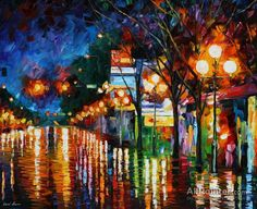 Leonid Afremov After Weekend oil painting reproductions for sale