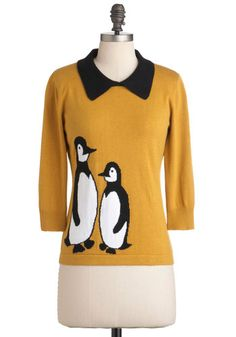In It to Penguin It Sweater  Obviously, the best way to dress up a shirt is to add penguins  $72.99  #ModCloth