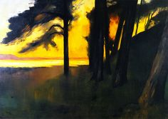 Lesser Ury Sunset over the Grunewaldsee 1909