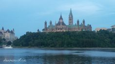The #Canadian #Parliament Building from across the #Outaouais River in #Gatineau