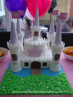 Homemade Princess Castle Birthday Cake: So where do I start?!   I actually spent around a month researching and planning a princess castle birthday cake for my daughter's first birthday, strategically