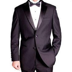 e6183909d82 Shop for Men s Black 2-button Tuxedo. Get free delivery at Overstock - Your