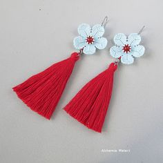 Kolczyki Pastelowe Kwiaty Diy Tassel, Tassels, Peyote Beading, Tassel Necklace, Jewelery, Beads, Jewelries, Earrings, Flora