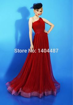 Aliexpress.com : Buy Red One Shoulder Chiffon Long Prom Dresses Evening Party Gown With Appliques Vestidos De Festa Vestido Longo Formatura 2016 from Reliable dress with butterfly sleeves suppliers on Suzhou Relia Wedding&Event  | Alibaba Group