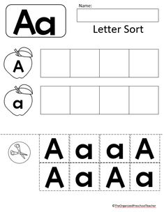 The ultimate Preschool/Pre-K letter of the week bundle! The perfect addition to any early learning classroom! Preschool Number Worksheets, Letter Flashcards, Letter Tracing Worksheets, Alphabet Activities, Letter A Coloring Pages, Letter Sorting, Abc Centers, Z Book, Do A Dot