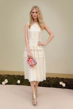 Poppy Delevingne - Creme Dress - Click for More...