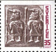 "Sweden 35ö ""Vendel period bronze plates"" 1967 Czeslaw Slania sc."