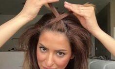 Elle croise 2 petites mèches sur le dessus de sa tête! La coiffure simple qu'elle réalise est pourtant.... Spectaculaire!