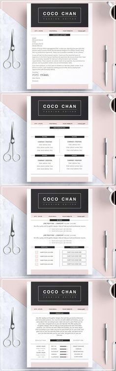 139 best Professional Resume Templates images on Pinterest in 2018