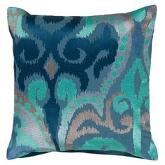 Cotton pillow with a multicolor ikat motif.   Product: PillowConstruction Material: 100% CottonColor...
