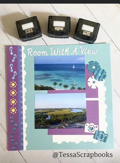 Beach Scrapbook Layouts, Scrapbook Borders, Scrapbooking Layouts, Scrapbook Cards, Borders And Frames, Creative Memories, Scrapbooks, Summer Collection, Diy Crafts