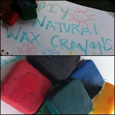 Recipe for making beeswax crayons.
