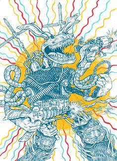 Chris Carfolite Illustration - Blitzkrieg Hop