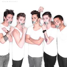 NO H8 Campaign - Check out this bonus #NOH8 photo from our shoot with the boys from Midnight Red! Left to Right: Anthony, Colton, Thomas, Eric, and Joey - See more: https://www.facebook.com/photo.php?fbid=10151989430412838&set=a.113292212837.98471.88890737837&type=1&theater
