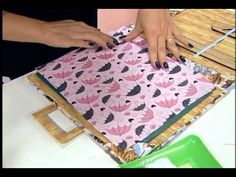 Programa Vida Plena Artesanato: Bloco para anotação em cartonagem Artesã: Ane Matos