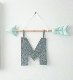 Arrow Indians 2 0 with letters Megacool and modern wall hanging for the child . Arrow Indians 2 0 with letters Megacool and modern wall hanging for the children& room or to Baby Room Decor, Wall Decor, Playroom Decor, Felt Crafts, Diy And Crafts, Indian Room, Diy Bebe, Baby Boy Rooms, Modern Wall