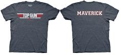 Top Gun Logo and Maverick Name Adult Heather Navy T-Shirt - Top Gun -   TV Store Online $17.95 (65% polyester, 35% cotton) #tvstoreonlinewishlist