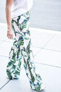 Tropical Wide Leg pants...