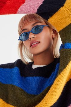 Vintage '90s Oval Sunglasses | Urban Outfitters