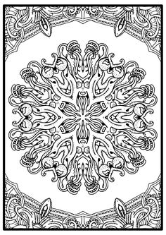 Color The- Mandala By Being Yourself - Free Mandala Coloring Page