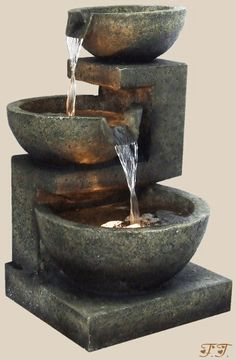 the sound of running water attracts birds and it is good Fung Shui when placed in the proper directions.