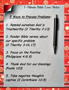 5 Ways To Process Problems According To The Bible