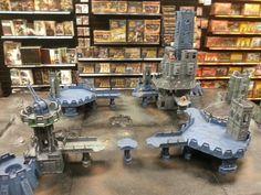 Warhammer 40k custom terrain. #Warhammer #Warhammer40k Warhammer Terrain, 40k Terrain, Game Terrain, Wargaming Terrain, Warhammer 40k, Paintball Field, Model Hobbies, Fortification, Tabletop Games