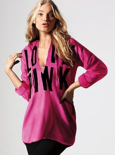 Tunic Hoodie - Victoria's Secret PINK. I need this right now!