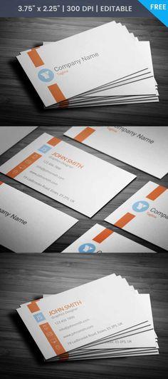 Free Designer Business Card Template #businesscard